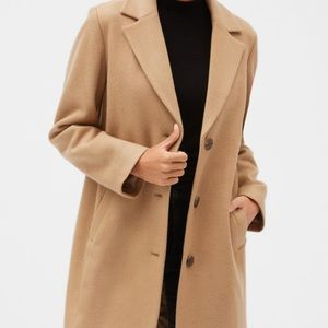 GAP WOOL BLEND CAMEL JACKET